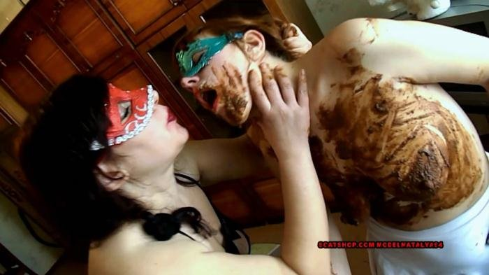 Olga mistress decides to punish Yana - Liquid diarrhea mouth full - Hands full of shit - Punishment of a naughty dog Yana is very cruel [FullHD 1080p]  2018 (Actress: Yana, ModelNatalya94, Olga)