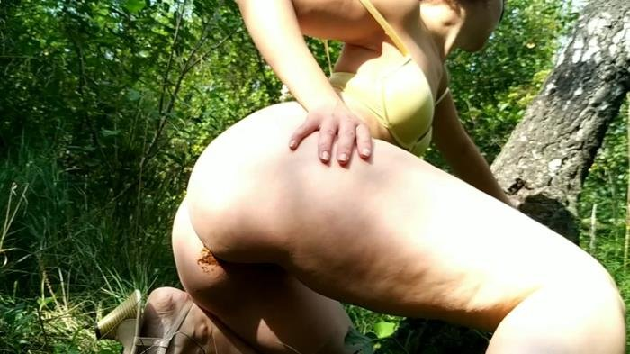 Hot striptease poo and pee in park [FullHD 1080p]  2018 (Actress: nastygirl)