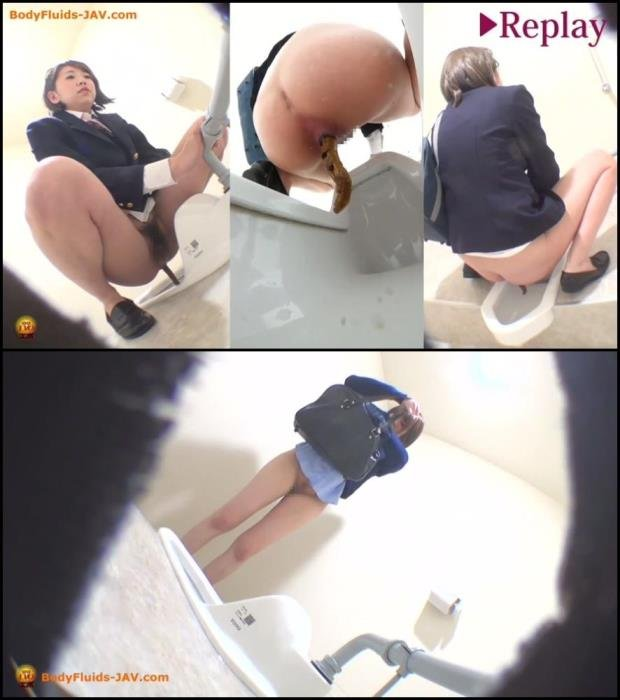Schoolgirls pooping in public WC. [FullHD 1080p]  2019 (Genre: Defecation, Diarrhea, Amateur shitting)